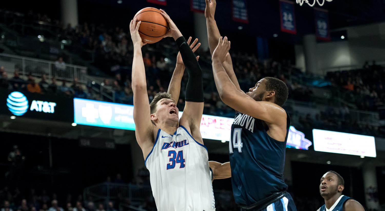 Marin Maric had a double-double in DePaul's first Big East win Saturday at St. John's (Konrad Markowski / The DePaulia)