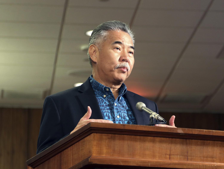 Hawaii Gov. David Ige answers questions during a hearing in Honolulu, Friday, Jan. 19, 2018.  (Jennifer Sinco Kelleher | AP).
