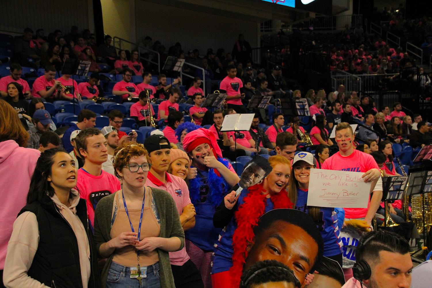 DePaul's student attendance has grown in the move to Wintrust, but growth relative to low attendance numbers at Allstate isn't going to fill the Demon Deck anytime soon.  (Richard Bodee   The DePaulia)