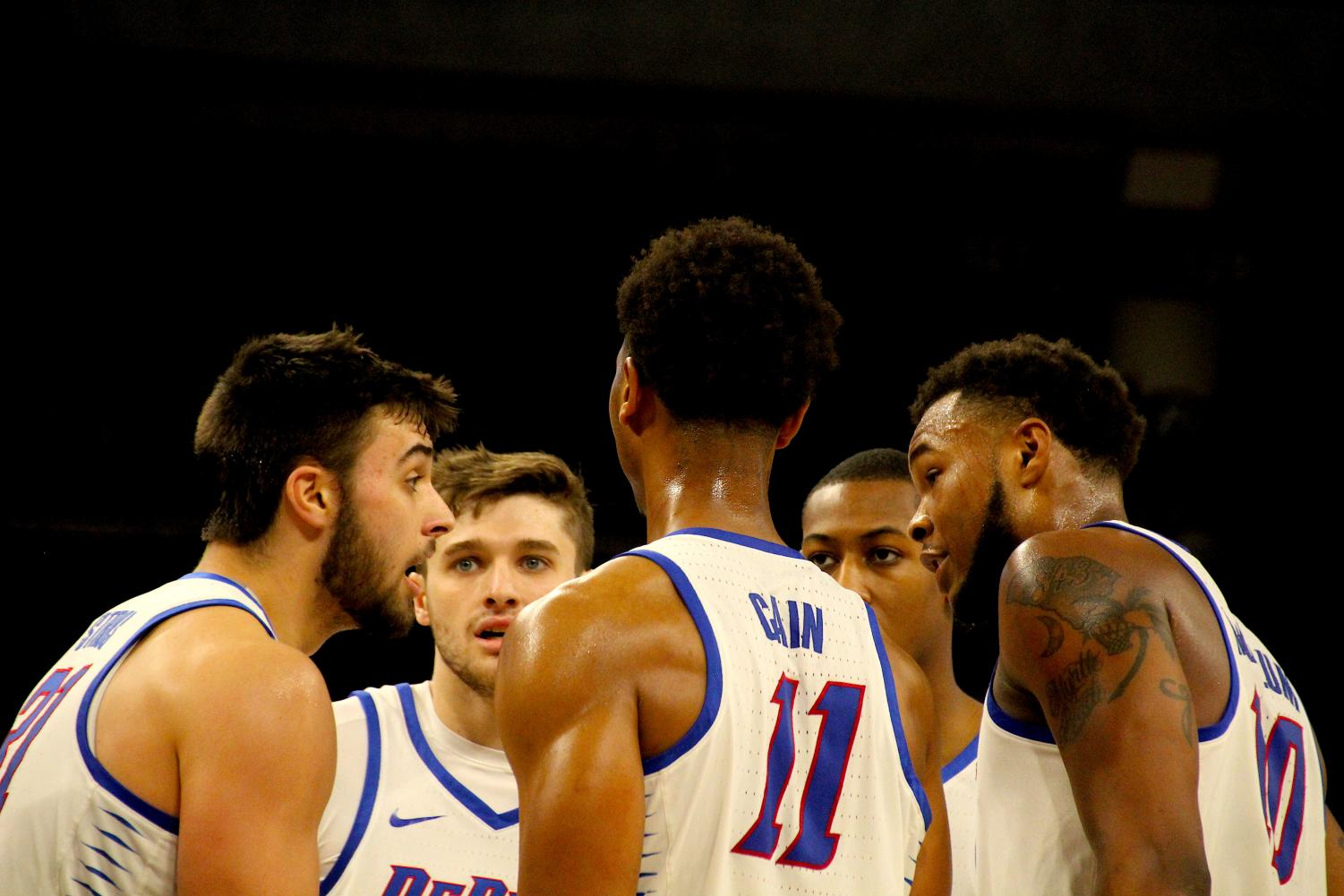 The Blue Demons are still searching for their second win of league play.  (Richard Bodee / The DePaulia)