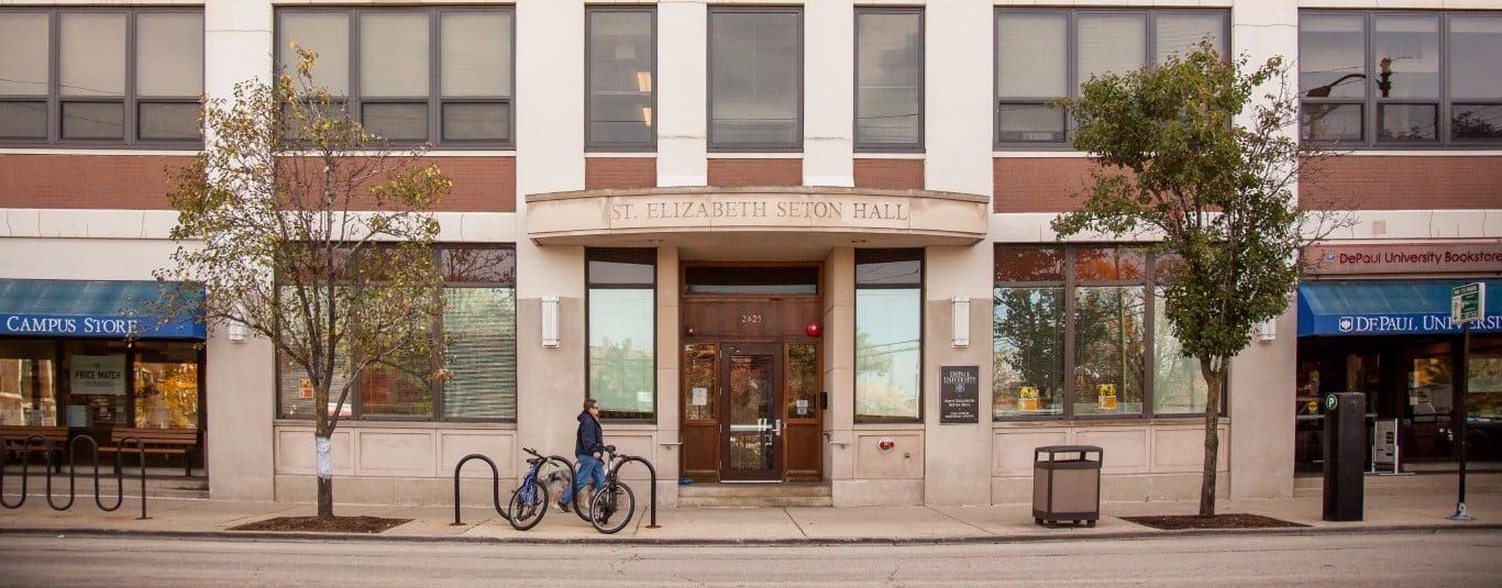 Residents of Seton Hall were abruptly woken up by alarms triggered by a faulty sprinkler. (Photo courtesy of DePaul University)