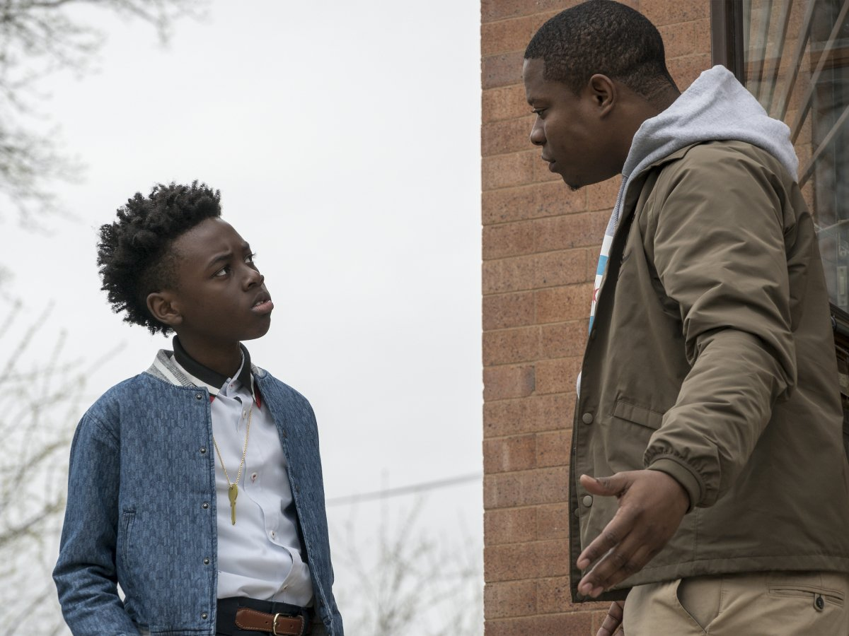Alex Hibbert as Kevin and Jason Mitchell as Brandon in