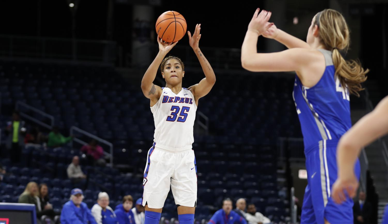 Mart'e Grays dropped a career high 25 points Friday night. (Photo courtesy of DePaul Athletics)