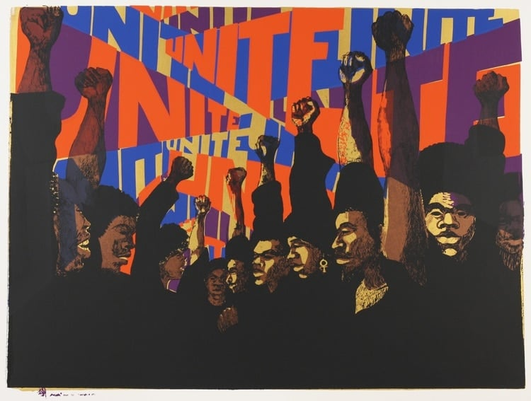 Barbara Jones-Hogu, Unite, 1969. Courtesy of Lusenhop Fine Art.