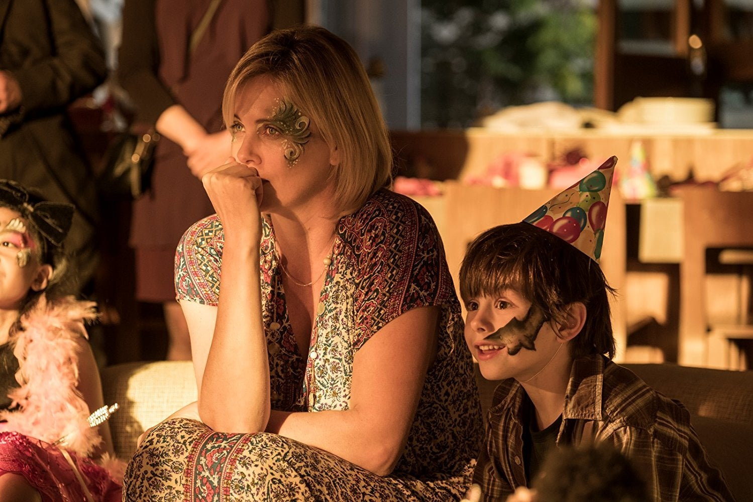 Charlize Theron stars as an overwhelmed mother in the film