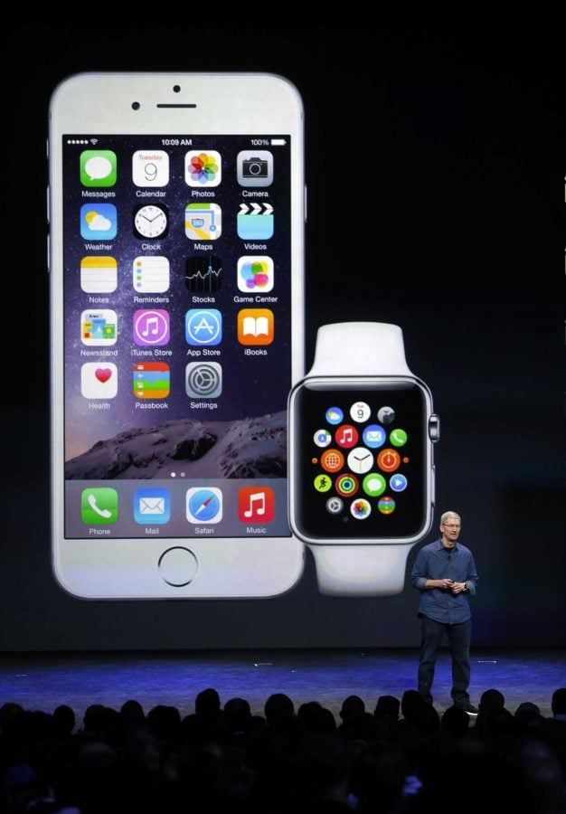 Apple Inc. introduced the iPhone 6, iPhone 6 Plus, and Apple Watch in Cupertino, Calif. Tuesday Sept. 9. Photo by Karl Mondon/MCT Campus.