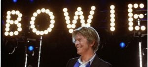 David Bowie performs at Tweeter Center outside Chicago in Tinley Park,IL, USA on August 8, 2002. (Photo: Adam Bielawski / Wikimedia Commons)