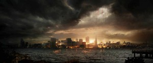 Cities burn after Godzilla's attack, but these depictions of mass destruction could help viewers process castastrophes. (Photo courtesy of Warner Bros.)