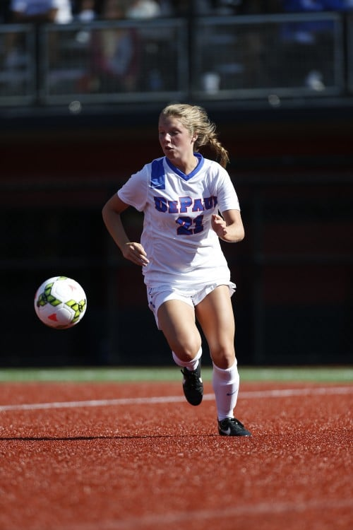 DePaul sophomore Abby Reed has eight goals in eight games. (Photo courtesy of DePaul Athletics)