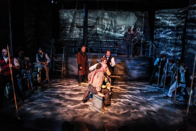 The cast of Shattered Globe Theatre's Midwest premiere of
