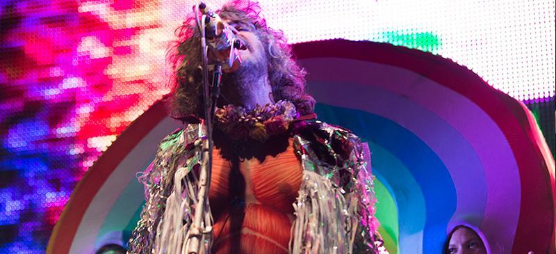 Lead singer Wayne Coyne of The Flaming Lips performed at Riot Fest 2014 on Saturday, Sept. 13. (Kirsten Onsgard / The DePaulia)