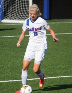 Senior forward Rachel Pitman is one of the leaders on the team this year. (Grant Myatt / The DePaulia)