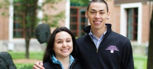 """SGA President Matthew von Nida and Vice President Christina Vera pictured last month. """"Our goals are having all those different outlets for students to continue their higher education,"""" von Nida said. (Grant Myatt / The DePaulia)"""