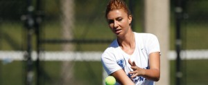 Junior Ana Vladutu will start 2014 as the 44th ranked singles player by ITA. (Photo courtesy of DePaul Athletics)