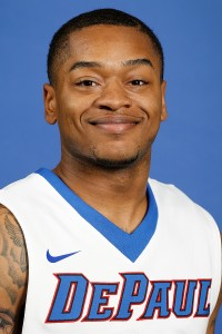 "Aaron Simpson will join the DePaul depth chart as a guard this upcoming season, a position not particularly hurting for players. The transfer junior, however, expects to be part of the team that contributes off the bench. ""I'm here to fill in, give them a couple of breathers, coming in to help the team,"" he said. ""But if I have an open shot, I'm going to knock it down."" DePaul head coach Oliver Purnell recruited Simpson for his natural scoring ability. Simpson committed to DePaul in March, a day after recruit and Washington D.C. guard Jon Davis backed away from a verbal commitment by reclassfying to the class of 2015.  ""Aaron is obviously going to be a big threat for us offensively,"" Purnell said. ""He's a natural scorer.""  For the first few weeks, he's been working with his fellow guards as he adjusts to Division I basketball. ""I'm working out with (Billy Garrett Jr.) and Durell (McDonald) since they've been here,"" he said.  ""I'm just trying to fill in with these guys to see how it is, how the Big East is, what to work on and what to look for."" Simpson also said he already has a familarity with Garrett from his days in high shcool. ""Billy and I together is fantastic,"" Simpson said. ""We've got ball movement and are creating offense for our team. He knows my game and I know his. We're just trying to evolve and get better every day.""  Simpson comes from Lincoln College, a junior college in Lincoln, Illinois where he averaged 20.2 points per game in his two seasons with the Lynx. He had originally signed with Illinois State coming out of high school but did not qualify academically. He averaged 26.2 points per game in high school at North Chicago, which led the state. He finished third in the voting for Illinois' 2012 Mr. Basketball, behind Jabari Parker and Keith Carter.  From an in-game standpoint, Simpson looks to bring his prolific scoring ability, as well as some leadership and quickness to the team.  ""I bring scoring, passing and quickness, which is a big deal here,"" he said. ""I'm bringing defense too and trying to be a leader."" Simpson also compared his game to former Connecticut standout Kemba Walker, explaining how he is ""a small guy who can still fill it up."" ""I'm also here to keep the defense honest with my shooting abilities,"" he said.  But Simpson is still in the process of learning the offense. While he found his teammates in Saturday's Black-Blue scrimmage, Purnell said that Simpson still needs to master the playbook.  ""I thought his ball movement was OK,"" Purnell said. ""He was doing that more off of natural ability, which is good because that's why you recruit a guy."" Regarding the upcoming season, Simpson said the team is preaching defense in the practices leading up to the Nov. 6 exhibition opener against Lewis.   ""We're looking real good right now,"" he said. ""We have a good team, but if we can't get stops we won't win."" (Photo courtesy of DePaul Athletics)"