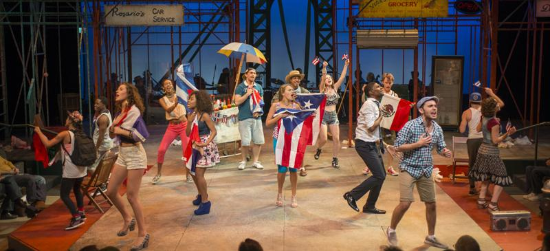 """""""In the Heights"""" runs through Oct. 12  on The Theatre School's intimate Fullerton Stage. (Michael Brosilow / The Theatre School)"""