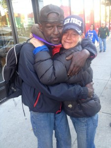 Heidi and Ronnie are homeless people who live on the streets of Chicago together. Photo via Kate Kownacki.