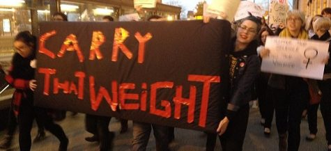 DePaul students participate in 'Carry That Weight' campus sexual assault awareness rally