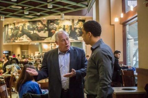Gov. Quinn meets DePaul students, staff faculty and other constituents in the DePaul Center Barnes and Noble Starbucks Monday, Oct. 13
