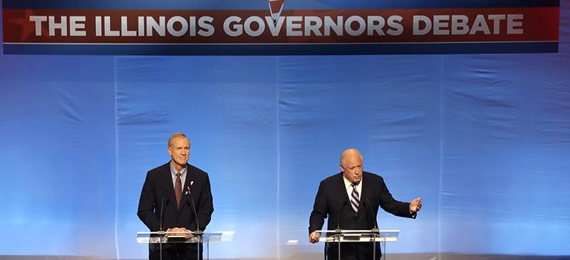 Illinois gubernatorial debate: Quinn, Rauner square off on minimum wage, education