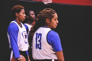 DePaul redshirt junior Chanise Jenkins at McGrath-Phillips Arena Saturday, Oct. 18. during an open scrimmage for the women's team. (Maggie Gallagher / The DePaulia)