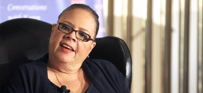 Chicago Teacher's Union President Karen Lewis, pictured above in August, has decided to forgo a mayoral campaign against incumbent Rahm Emanuel (D). Lewis was released from the hospital last week. (Michael Schmitt | AP)