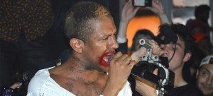 Mykki Blanco performs at an underground location in Pilsen. (Kevin Quin / The DePaulia)
