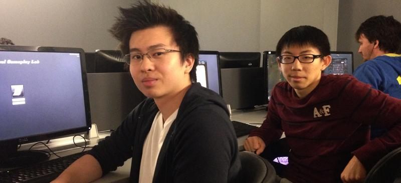 Christopher Djaja (left) and Harrison Fang (right) met at DePaul because of their passion for League of Legends and are now key members of the university's E-Sports community. (Joseph Troiano / The DePaulia)