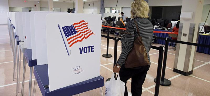 Voter turnout is often low in the 18-to 29-year-old age group. Because politicians respond to their voting constituencies, low voter turnout in this age group can greatly shift political agendas away from student concerns, such as the high price of tuition and interest on student loans. (Mark Duncan | AP)