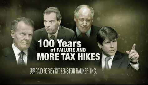 Pat Quinn, Bruce Rauner spend record amounts on ads