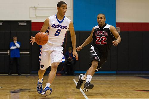 Sophomore guard Billy Garrett Jr. leads the Blue Demons this year.
