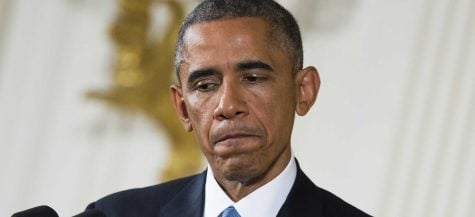 President Barack Obama speaks after the elections. Due to harsh Democrat losses, some wonder if he