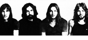 "From left: Waters, Mason, Gilmour and Wright pose for a Capitol Records insert that appeared in Billboard in 1971. The photo was taken to promote their album ""Meddle."" (Creative Commons)"