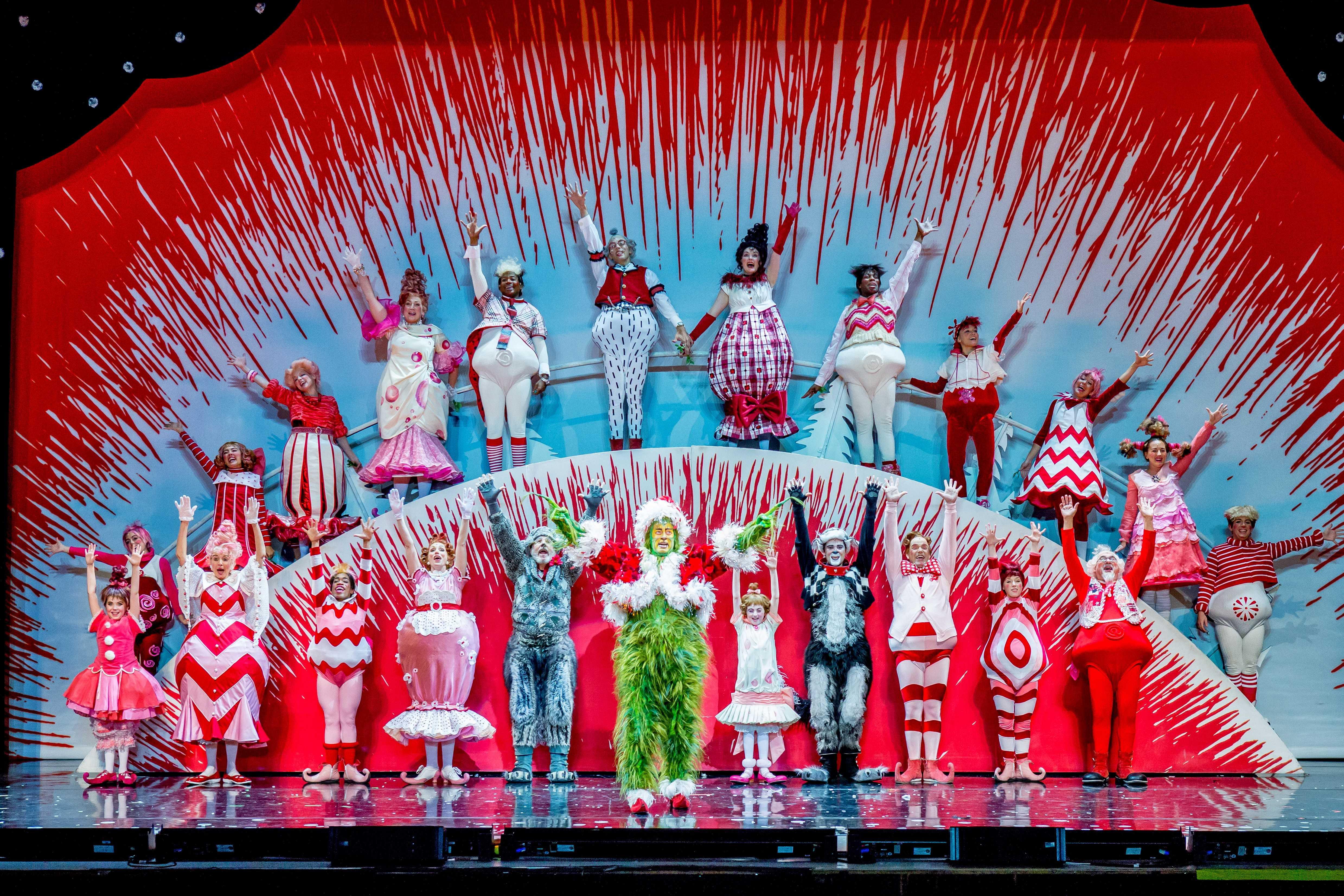 The Grinch Who Stole Christmas Cast.Colorful Cast Shines In Grinch Musical At Chicago Theater