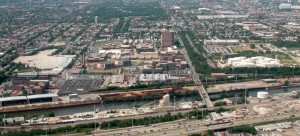 Cook County Jail pictured from above. Accoridng to Cook County Sheriff Tom Dart, the level of mental illness in the prison population ranges from 25 percent to 35 percent. (Photo courtesy of David Wilson)