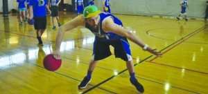 Dodgeball club co-president Sam Murphy has been in the club since his freshman year of college. (Photo courtesy DePaul Dodgeball Club)