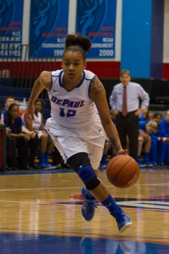 DePaul guard Brittany Hrynko has a fan in rap star Drake. (Grant Myatt   1a1e33ee1c