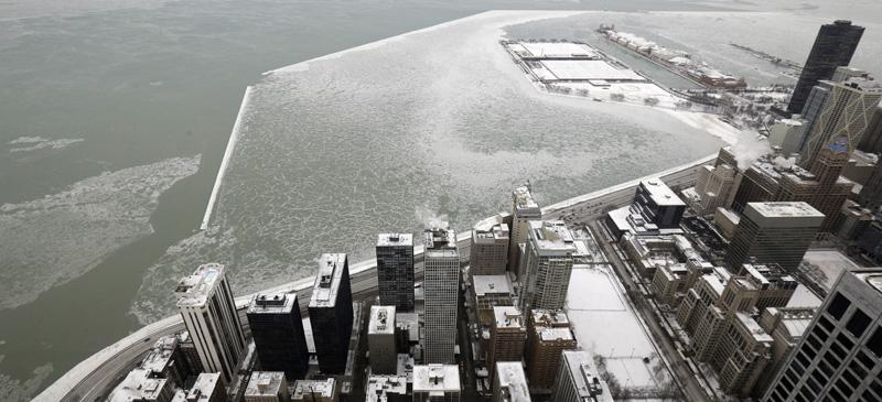 Snow coats Navy Pier in Chicago on Jan. 8. Dangerously cold air has sent temperatures into the single digits around the United States, with wind chills even lower. (Nam Y. Huh | AP)