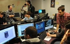 In this file photo, game design students work in a CDM lab.