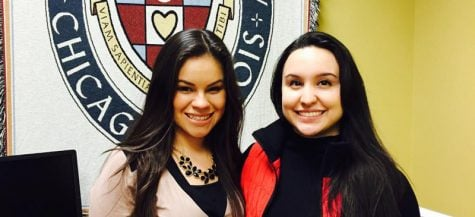 Betzaira Herrera, left, and Cristina Vera beat the odds to attend school with some assistance from MAP grants. The program could now be on the chopping block as the state tries to get its fiscal house in order. (Danielle Church / The DePaulia)