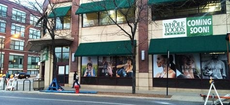 Whole Foods opened on the corner of Fullerton and Sheffield avenues Feb. 25, 2015. (Courtney Jacquin / The DePaulia)