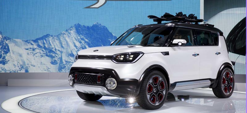 The Kia Trail'ster concept car is unveiled during the media preview of the Chicago Auto Show Feb. 12. The Chicago Auto Show will be open to the public from Feb. 14 through Feb. 22. (AP Photo/Andrew A. Nelles)