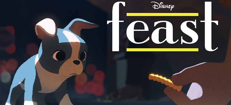 """Disney film """"Feast"""" follows a dog that is continually spoiled by his owner in the form of leftovers and junk food scraps."""
