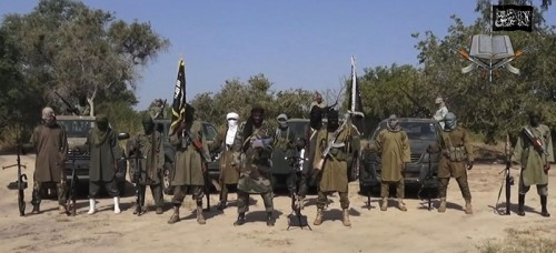 Boko Haram fighters have shot or burned to death about 90 civilians and wounded 500 in ongoing fighting in a Cameroonian border town near Nigeria. (Boko Haram, File | AP)