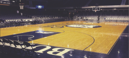 Hinkle Fieldhouse, home of the Butler Bulldogs, opened in 1928. DePaul men's basketball traveled there Saturday to face the Bulldogs. (Colin Sallee / The DePaulia)