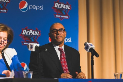 New DePaul men's basketball head coach Dave Leito is confident he can bring the program back to success. (Josh Leff/The DePaulia)
