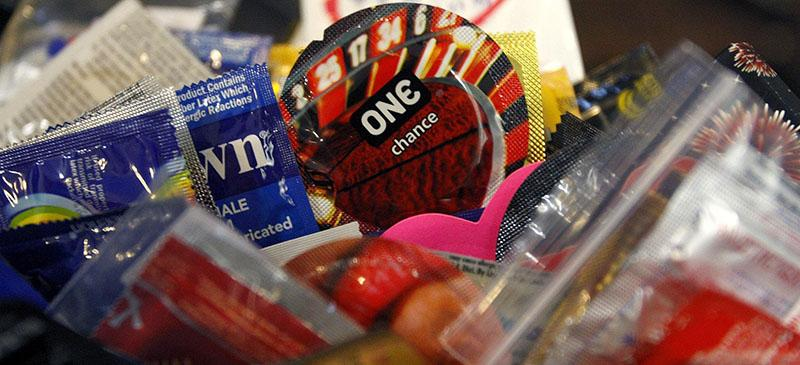 Condoms are available on some college campuses. (Matt Goins/Lexington Herald-Leader/MCT)