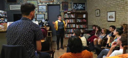 Lauren Dyrek leads Human Communion, a participatory therapeutic art series. (Photo courtesy of Human Communion)
