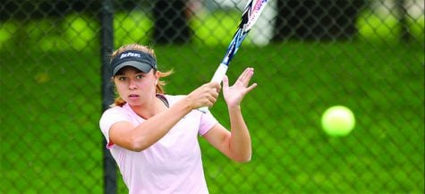 Young players create a racket in DePaul women's tennis