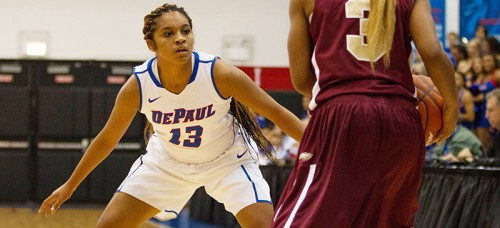 Chanise Jenkins, who was an intregral part of the Blue Demons' offense in 2015, will be participating in the USA Basketball team trials.  (Maggie Gallagher / The DePaulia)